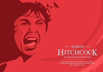 Red Hitchcock Background - vector gratuit #420059