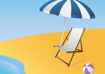 Illustration Of A Canvas Deck Chair - vector gratuit #420079