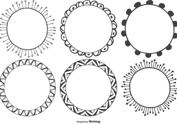 Decorative Sketchy Vector Frames Collection - бесплатный vector #420109