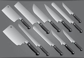 Steel Kitchen Knife - vector #420209 gratis
