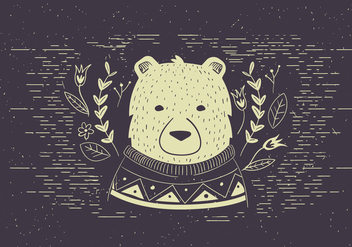 Free Vector Polar bear Illutration - Free vector #420279