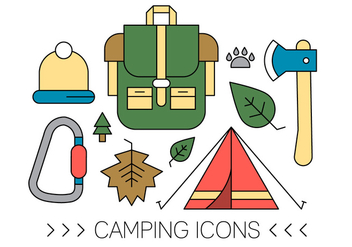 Free Camping Icons - Free vector #420319