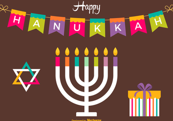 Free Happy Hanukkah Vector Card - vector gratuit #420419