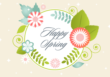 Free Floral Greeting Vector Elements - vector gratuit #420479