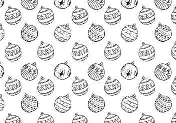 Free Christmas Hand Drawn Pattern Background - бесплатный vector #420489