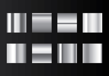 Grey Gradient Steel Swatches Vector - vector gratuit #420629