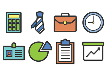 Business Icon Set - vector gratuit #420649