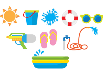 Songkran Icons - Free vector #420659