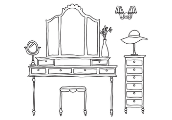 Delicate Dressing Room - vector #420739 gratis
