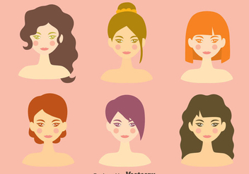 Beautiful Girl Headshot Vector - Free vector #420759