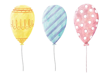 Balloons Illustration - Free vector #420819