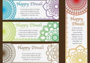 Diwali Invitations - бесплатный vector #420879