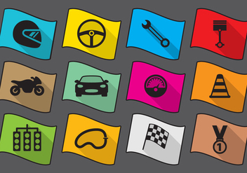 Flat Race Icons - vector gratuit #420889