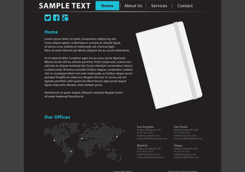Web Page Vector Template - бесплатный vector #420899