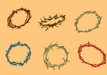Various Crown of Thorns Vector - vector #420929 gratis
