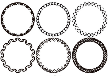 Funky Decorative Vector Frames - Free vector #420999