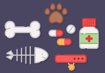 Free Pet Elements Vector - Free vector #421049