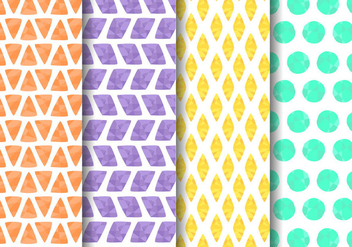 Free Painted Geometric Pattern Vector - vector gratuit #421199