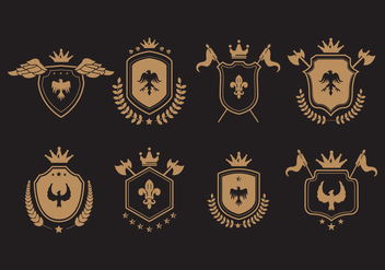 Vector Blason Symbolic Illustrations - Free vector #421209