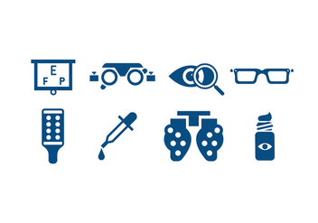 Eye Care Tools Icons - vector #421299 gratis