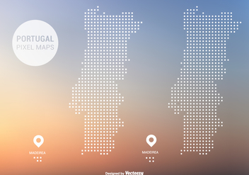 Portugal Pixel Maps Vector - Free vector #421319