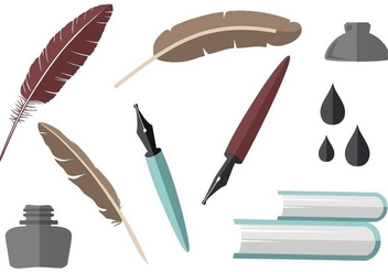 Free Writing Element Collection Vector - Free vector #421329