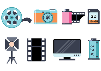 Photography Icon Vectors - бесплатный vector #421369