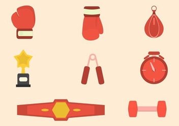 Flat Boxing Vectors - бесплатный vector #421409