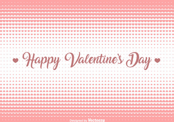 Vector Hearts Halftone Background - Free vector #421429