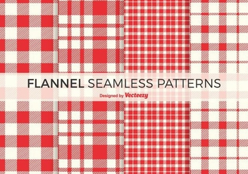 Free Red Flannel Vector Patterns - Free vector #421469