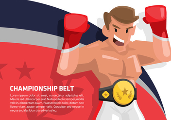 Boxing Champion Vector Background - vector #421499 gratis
