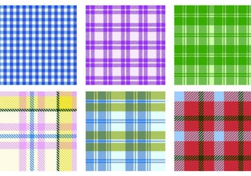 Vector Flannel Pattern Pack - vector gratuit #421519