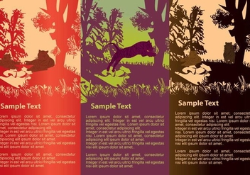 Tigers Silhouettes Banners - vector gratuit #421539