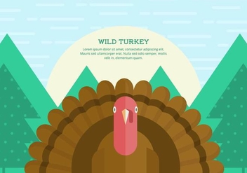 Wild Turkey Background - vector #421559 gratis