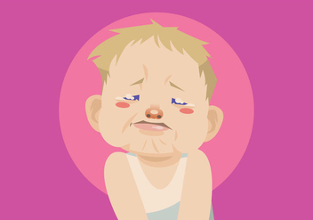Crying Baby Boy Vector - Free vector #421689