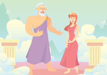 Hercules' Parents Vector Background - бесплатный vector #421749