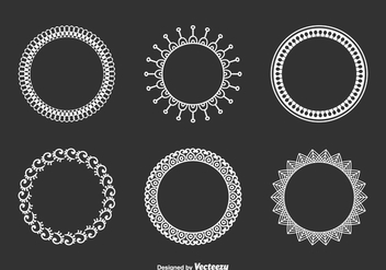 Decorative Funky Frames Vector Set - бесплатный vector #421769