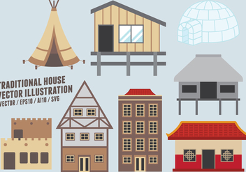 Traditional House Vector Illustration - бесплатный vector #421779