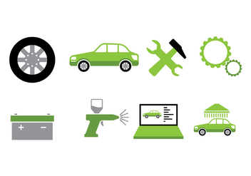 Car Auto Body Icon Vector - Kostenloses vector #421789