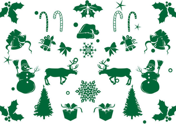 Christmas Element Icon Set - vector gratuit #421799