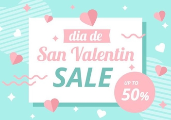Free San Valentin Background Sale Vector - Free vector #421879