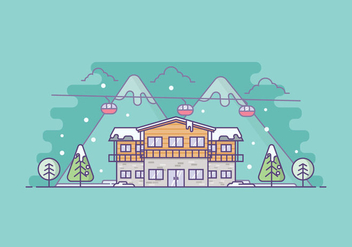 Free Winter Resort Illustration - Kostenloses vector #421959