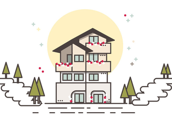 Little Cutie Chalet Free Vector - бесплатный vector #421989