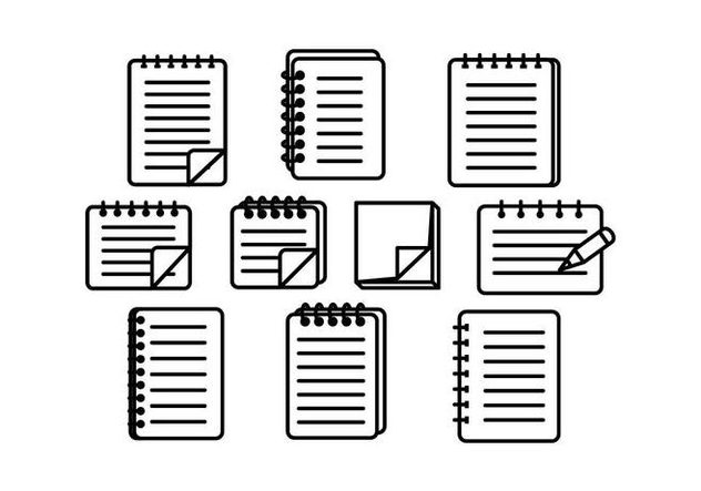 Notebook and Block Notes Vector - бесплатный vector #422009