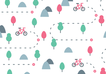 Bike Trail Pattern - Free vector #422079