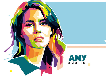 Amy Adams WPAP Vector - бесплатный vector #422119