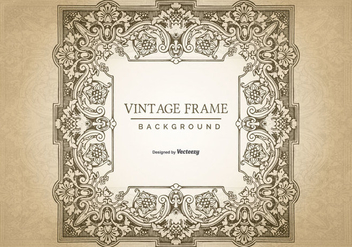 Vintage Grunge Frame Background - vector #422189 gratis