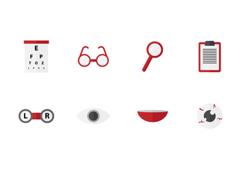 Free Eye Doctor Vector Icons - vector gratuit #422219