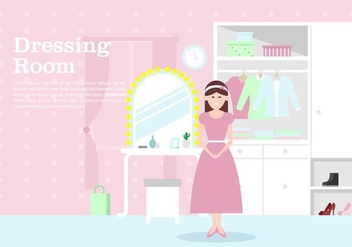 Womens Dressing Room Background - vector #422259 gratis