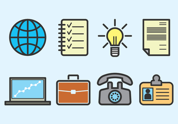 Outline Business Vector Icons - бесплатный vector #422319